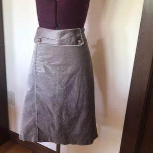 Masca Beige Velvet Skirt M
